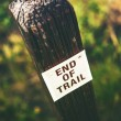 End of Trail Wooden Sign — Stock Photo #52800563
