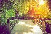 Ponte giardino panoramico — Foto Stock