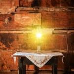 Burning Oil Lamp — Stock Photo #54770543