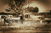 Aged Cars Graveyard — Stock Photo