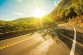 Sunny Yosemite Road — Stock Photo
