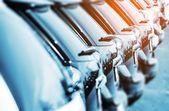 Nieuwe voertuigen in voorraad — Stockfoto