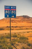 American Interstate I-80 — Stock Photo