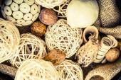 Wooden Decoration Elements — Stock Photo