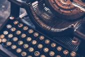 παλαιά γραφομηχανή — Φωτογραφία Αρχείου