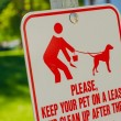 Clean Up After Pet Sign — Stock Photo #62105027