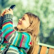 Girl Taking Smartphone Pictures — Stock Photo #62107685