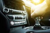 Car Drive Manual Shifting — Stock Photo