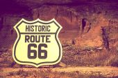 Famous Route 66 Sign — Stock Photo