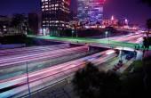 Los Angeles Night Traffic — Stock Photo