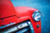 Red Oldtimer Pickup Closeup — Stock Photo