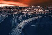 Seattle Highways Intersection — Stock Photo