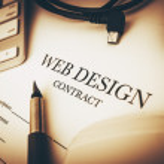 Web Design Contract — Stock Photo #77242574