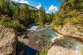 Alpine River in Switzerland — Stock Photo
