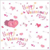 Valentine's Day. Arrows heart and lettering. background illustration — Stok Vektör