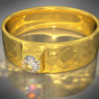 Golden Ring with a Jewel — Stockfoto #82976146
