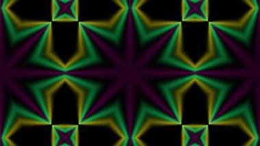 Multicolored spotlights kaleidoscope — Stock Video