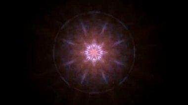 Pulsating Lights  on black — Stock Video