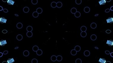 Shimmering circles and abstract equalizer — Vídeo stock
