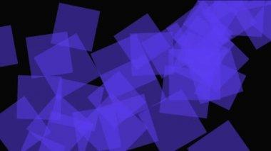 Movement of purple, blue squares — Stock Video