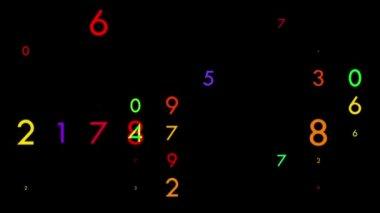 Números flicking multicoloridos — Vídeo stock