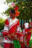 Victoria, Seychelles - April 26, 2014: Chinese procession at the Carnaval International de Victoria in Seychelles — Stock Photo