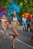Victoria, Seychelles - April 26, 2014: Brazilian dancer at the Carnaval International de Victoria in Seychelles — Stock Photo