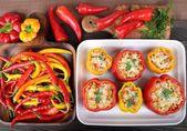 Stuffed peppers — Stock Photo