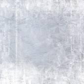 Frost patterns on window. Festive bokeh background — Foto Stock