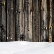 Snow drift on wood boards with blank space — Stock Photo #60599665