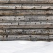 Snow drift on wood boards with blank space — Stock Photo #60599677