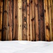 Snow drift on wood boards with blank space — Stock Photo #60599683
