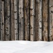 Snow drift on wood boards with blank space — Stock Photo #60599685