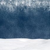 Winter background - Abstract bokeh lights and snowdrift — Stok fotoğraf