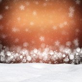 Winter background-Abstract bokeh lights and snowdrift — Stock Photo