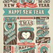 News Newspaper Happy New Year and Merry Christmas — Stock Vector #55260187