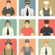 Set of Avatars People Occupations — Cтоковый вектор #55800191