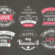 Calligraphic Design Elements Valentines Day — Stock Vector #59116167