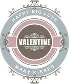 Calligraphic Design Elements Valentines Day — Vecteur