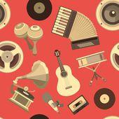シームレスな背景の音楽 — ストックベクタ