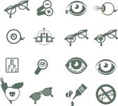 Ophthalmic icons — Stock Vector