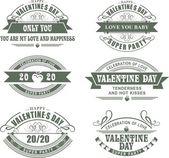 Calligraphic Elements Valentines Day — Stock Vector