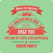 Calligraphic Elements Valentines Day — Stok Vektör