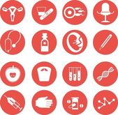 Set of icons gynecological — Stock Vector
