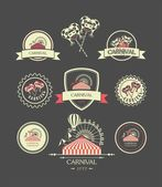 Carnival vintage badges — Stock Vector