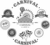 Carnival vintage badges — Stock Vector