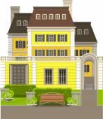 Kır evi — Stok Vektör