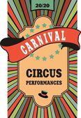 Manifesto del circo — Vettoriale Stock