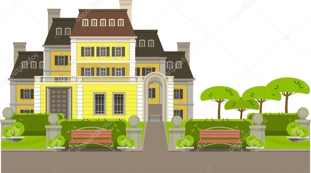 Casa di campagna vettoriali stock marrishuannna 68765739 for Piani casa di campagna 2000 piedi quadrati
