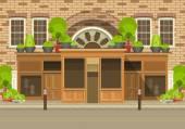 Townhouse shop — Stock Vector